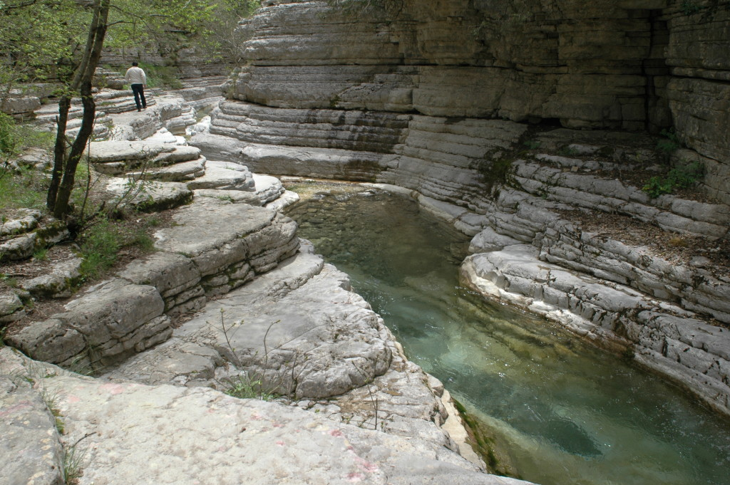 Natural pools near Papingo, Vikos–Aoös Natural Park.